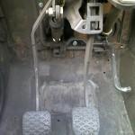 Установка блока педалей верхнего расположения от иномарки
